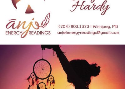 Anjel Energy Readings - Business Cards