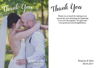 Brianna Kahovec - Thank You Cards