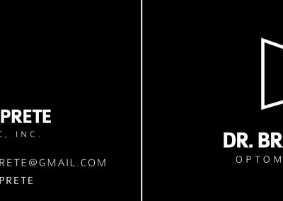 Dr. Brandon Prete - Business Cards