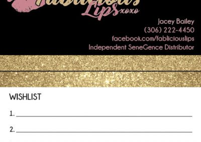Fablicious Lips - Business Cards