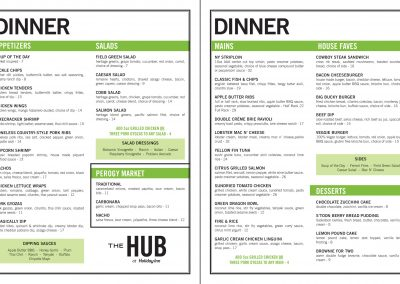 The Holiday Inn Downtown - Dinner Menu