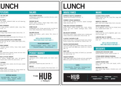 The Holiday Inn Downtown - Lunch Menu