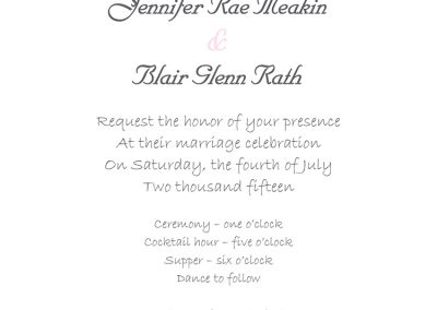 Jennifer Meakin - Wedding Invites