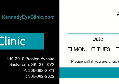 Kennedy Eye Clinic - Business Cards