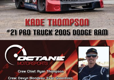 Kade Thompson - Driver Profile Cards