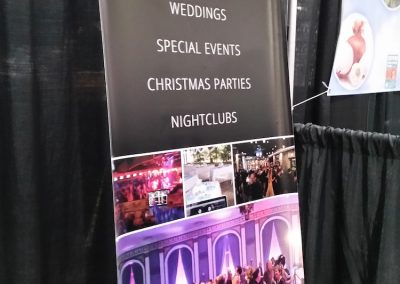 Prairie DJ Services - Banner Stand (real life photo)