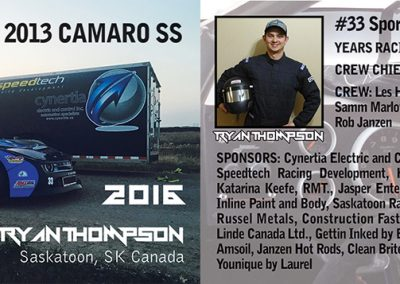 Ryan Thompson - Driver Profile Cards
