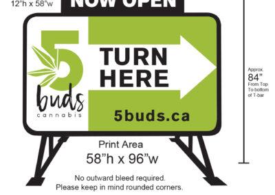 5Buds Cannabis Curbex MiniB Billboard