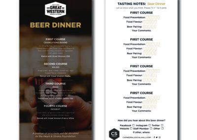 CHS Nov Beer Dinner Menu