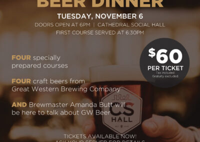Cathedral Social Hall Beer Dinner Poster