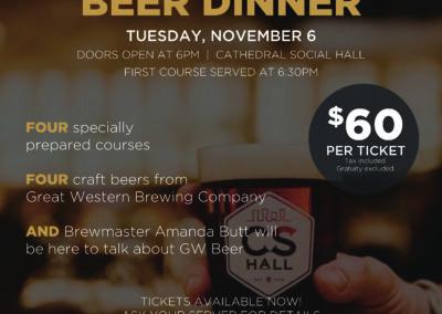CHS GW beer dinner poster