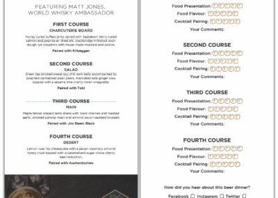 Cathedral Social Hall - Whisky Masterclass Menu