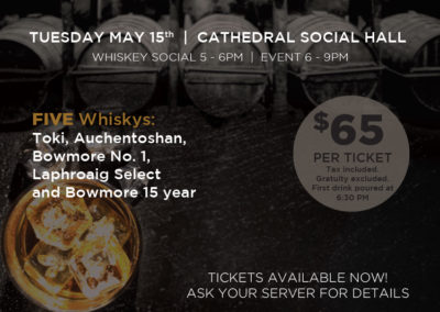 Cathedral Social Hall - Whisky Masterclass Poster