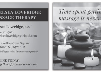 Chelsea Loveridge Massage - Flyer