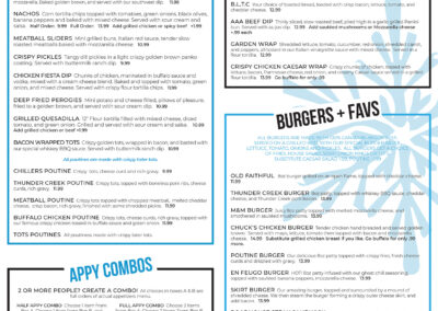 Chillers Pub - Food Menu