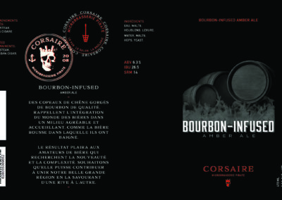 Corsaire Microbrewery - Beer Can Label