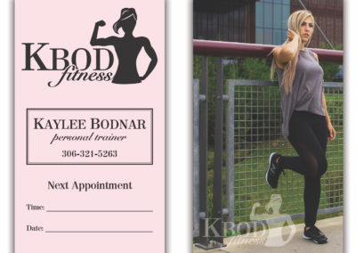 KBod Fitness - Business Cards