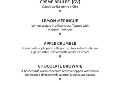 Parktown Hotel - Four Seasons Dessert Menu