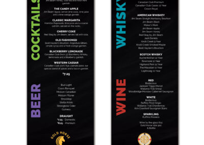 SIGA Gold Horse - Cocktail Menu
