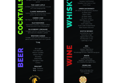 SIGA  Gold Horse - Cocktail Menu